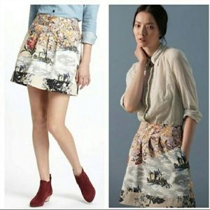 {ANTHROPOLOGIE}Flora Fortress Skirt by Leifnotes 2